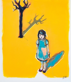 "Kaindel Petra, ""GIRL AND TREE"""